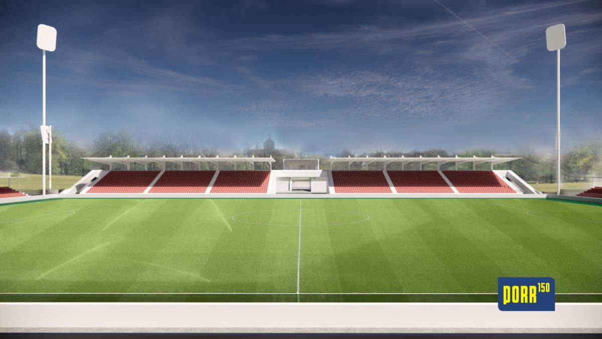 Letní stadion Pardubice - vizualizac | Zdroj: společnost PORR, a. s.