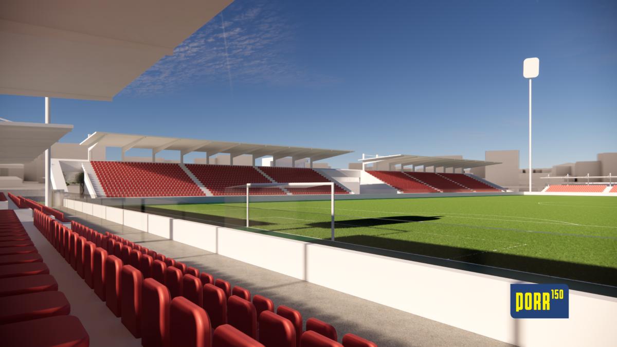 PORR odstartuje stavbu fotbalového stadionu v Pardubicích