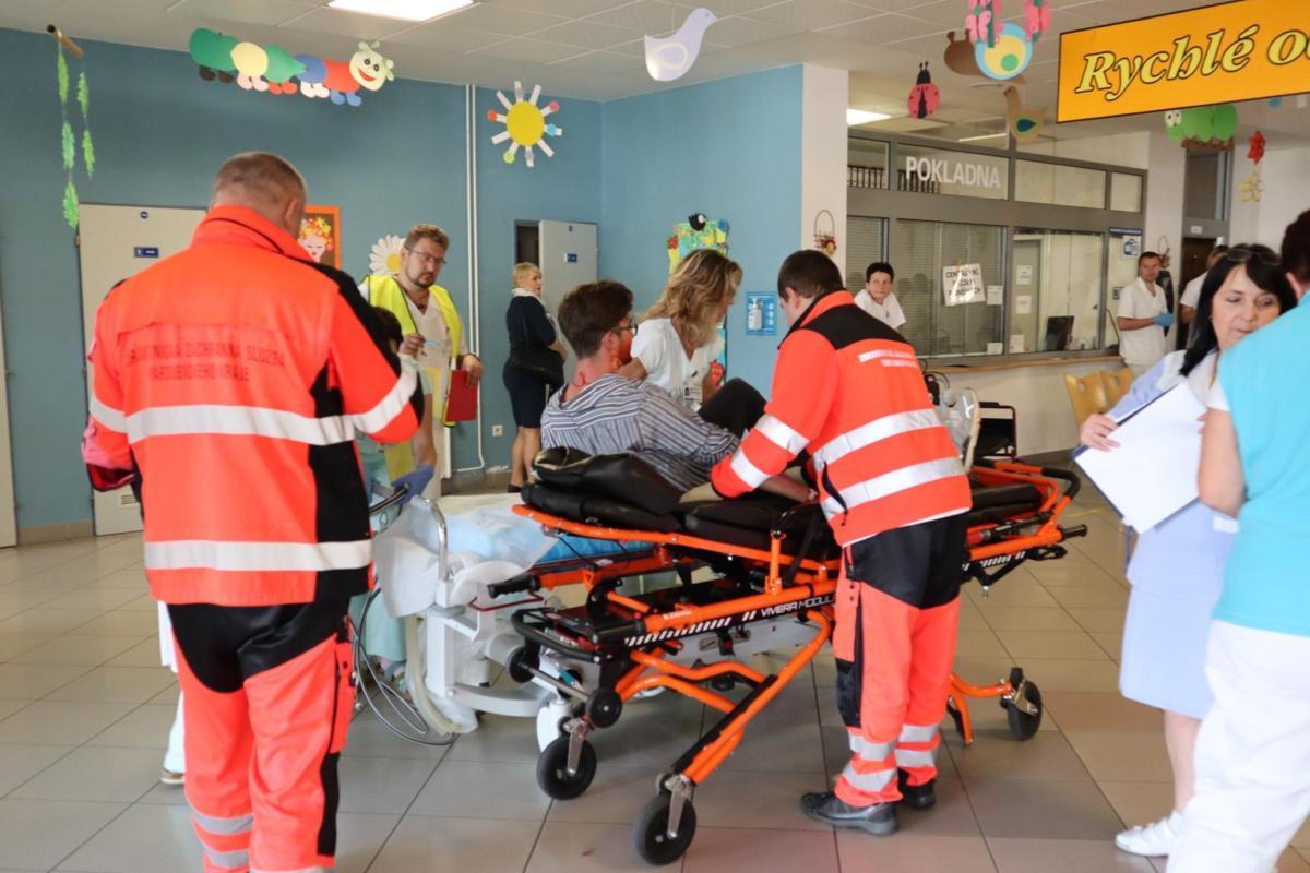 Traumacvičení připravují nemocnice na skutečné krizové situace