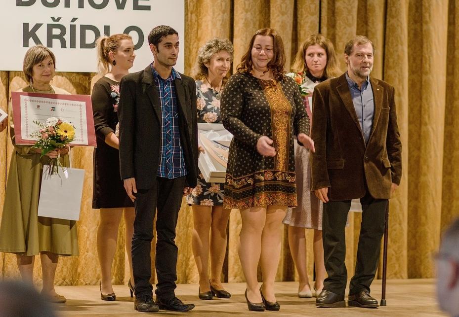 Dobrovolník filantrop - Miloslav Chaloupka vpravo