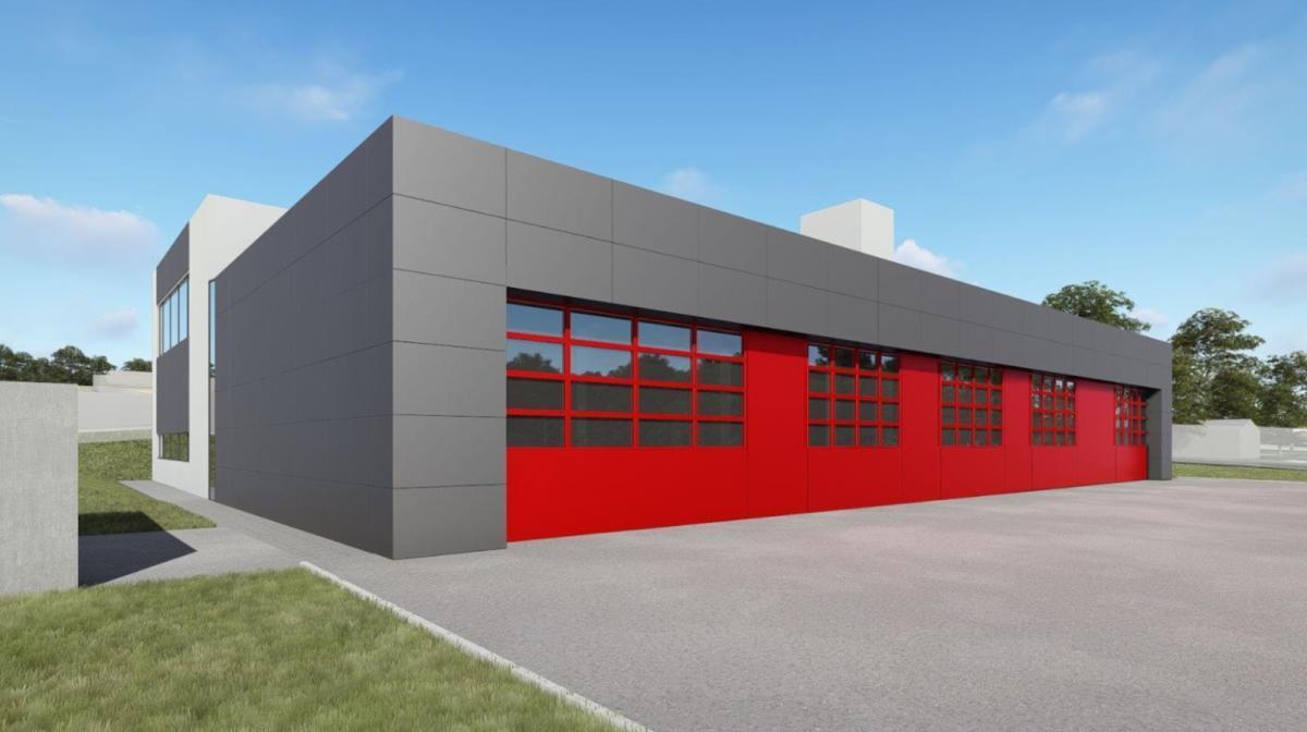 Vizualizace požární stanice Žamberk