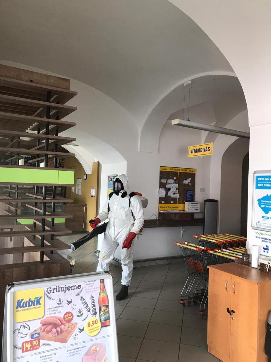 Supermarket dezinfekce 2
