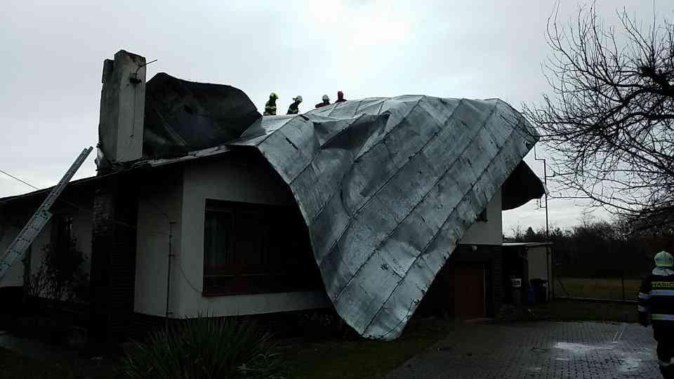HZS utržená střecha Spojil