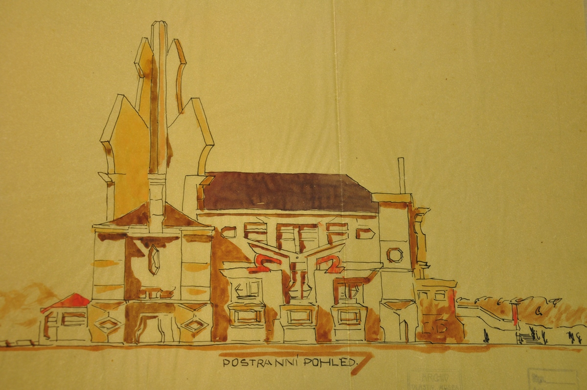 Soutěžní projekt Jiřího Krohy na pardubické krematorium
