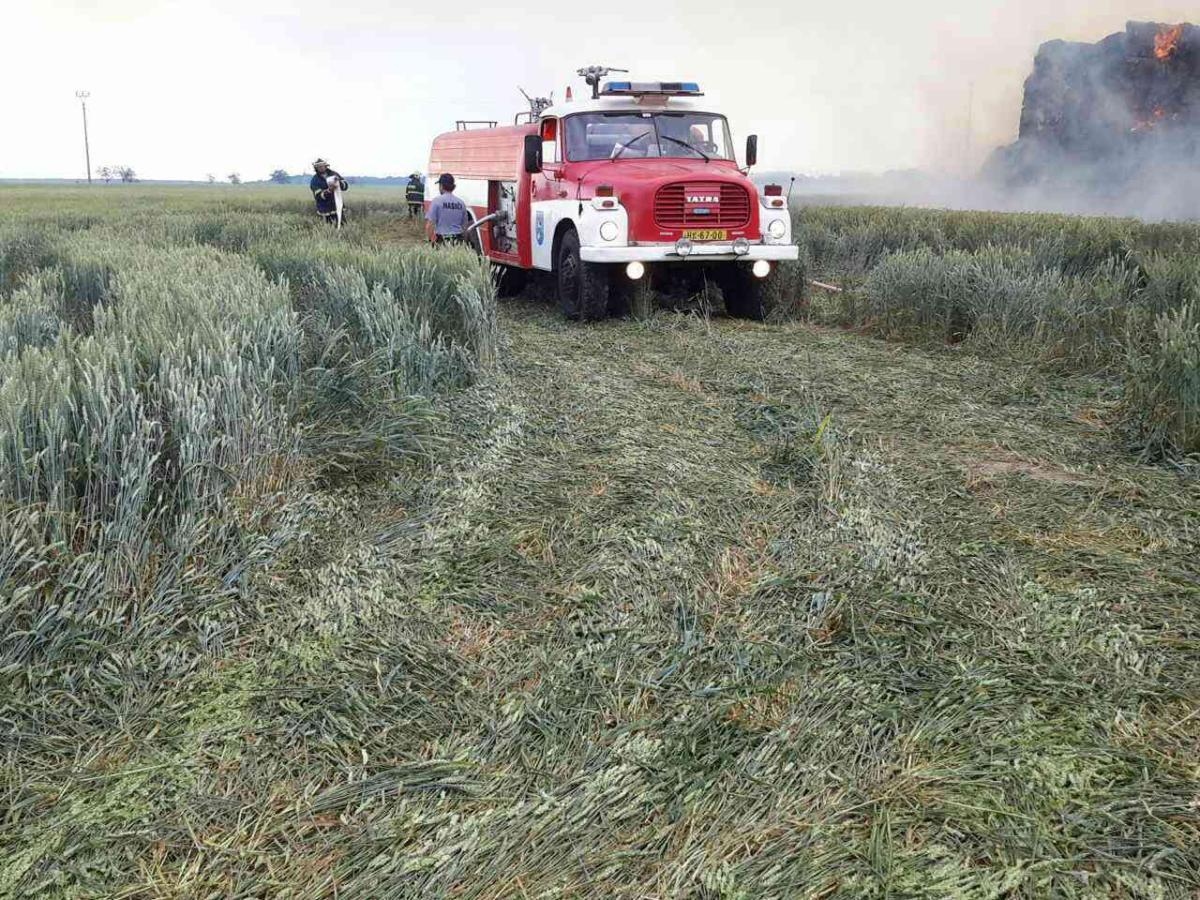 Sedm jednotek hasičů likvidovalo v sobotu 22. června v 14.53 hodin požár stohu v Rohovládově Bělé.