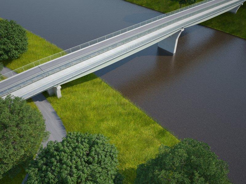 """Lávka pro pěší a cyklisty u """"rosického"""" mostu"""
