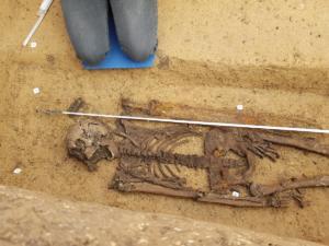 Dokumentace hrobu muže