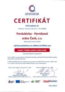Certifikát kvality služeb