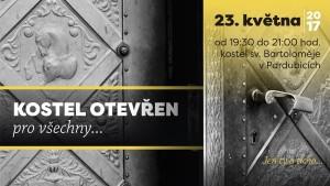 Kostel Otevřen pro všechny... @ kostel sv. Bartoloměje, Pardubice