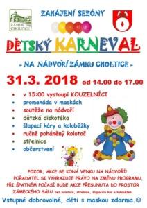 Dětský Karneval na nádvoří Zámku Choltice @ Zámek Choltice | Choltice | Pardubický kraj | Česko
