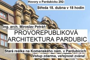Prvorepubliková architektura Pardubic @ sále Jana Kašpara v přízemí staré reálky | Pardubický kraj | Česko