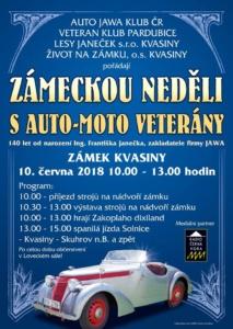 6. Zámecká neděle s auto-moto veterány @ Zámek Kvasiny | Kvasiny | Královéhradecký kraj | Česko