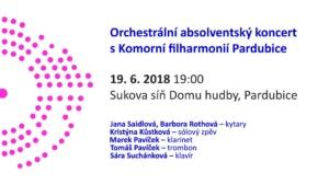 Absolventský koncert s Komorní filharmonií Pardubice @ Sukova síň Pardubice | Česko