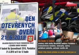 Den otevřených dveří Policie ČR Pardubice @ Na spravedlnosti 2516, Pardubice | Pardubický kraj | Česko