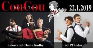 BONIFANTES & Chanson Trio CouCou @ Sukova síň, Pardubice | Česko