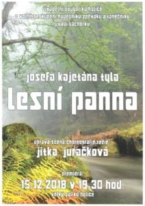 Josef Kajetán Tyl - LESNÍ PANNA - repríza představení @ Kulturní dům města Holic | Holice | Pardubický kraj | Česko