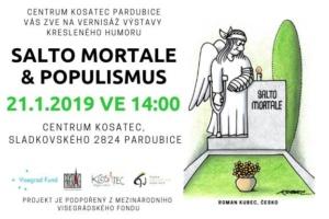 Vernisáž výstavy kresleného humoru Salto mortale & Populismus @ Centrum Kosatec | Pardubický kraj | Česko