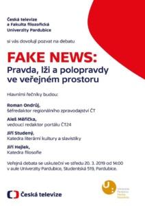 FAKE NEWS: Pravda, lži a polopravdy ve veřejném prostoru @ Univerzita Pardubice | Pardubický kraj | Česko