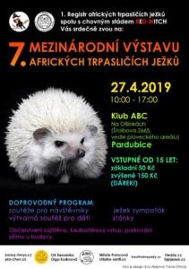 Výstava ježků bělobřichých Pardubice @ ABC klub (L-klub) | Pardubický kraj | Česko