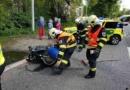Nehoda motorkáře v Rybitví…