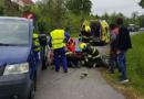 Nehoda dodávky a motocyklisty v Osíku…