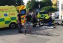 Vážná dopravní nehoda motorkáře a kamionu v Hlinsku…