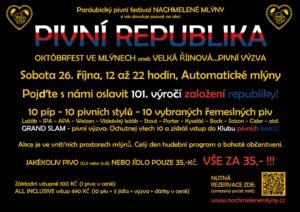 Pivní republika - Októbrfest ve Mlýnech @ Automatické mlýny | Pardubický kraj | Česko