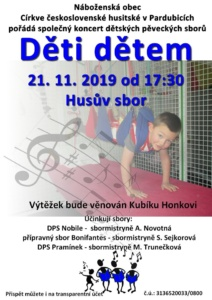 Děti dětem - Koncert dětských pěveckých sborů @ Husův sbor Jiráskova 1270   Pardubický kraj   Česko