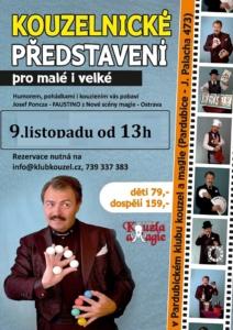 Kouzelnické představení - Kouzelník Faustino @ Pardubický klub kouzel a magie | Pardubice | Česko