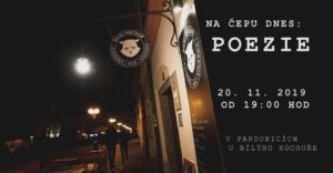 Na čepu dnes: Poezie @ Bílej Kocouř | Pardubický kraj | Česko