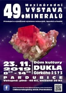 49. Mezinárodní výstava minerálů @ Dům kultury DUKLA | Pardubický kraj | Česko