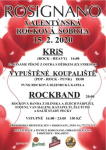 Valentýnská rocková sobota @ Restaurace Rosignano   Pardubický kraj   Česko