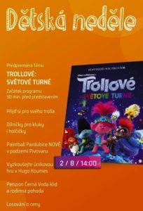 Dětská neděle - TROLLOVÉ:SVĚTOVÉ TURNÉ @ Cinestar Pardubice | Pardubický kraj | Česko