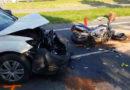 Motocyklista byl po nehodě transportován do nemocnice vrtulníkem…