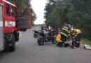Hasiči likvidovali následky nehody motocyklisty i převráceného traktoru…